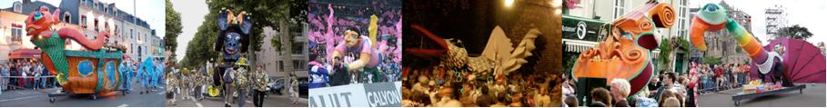 personnage carnaval, structure roulante pour parade carnaval, déambulation et festival